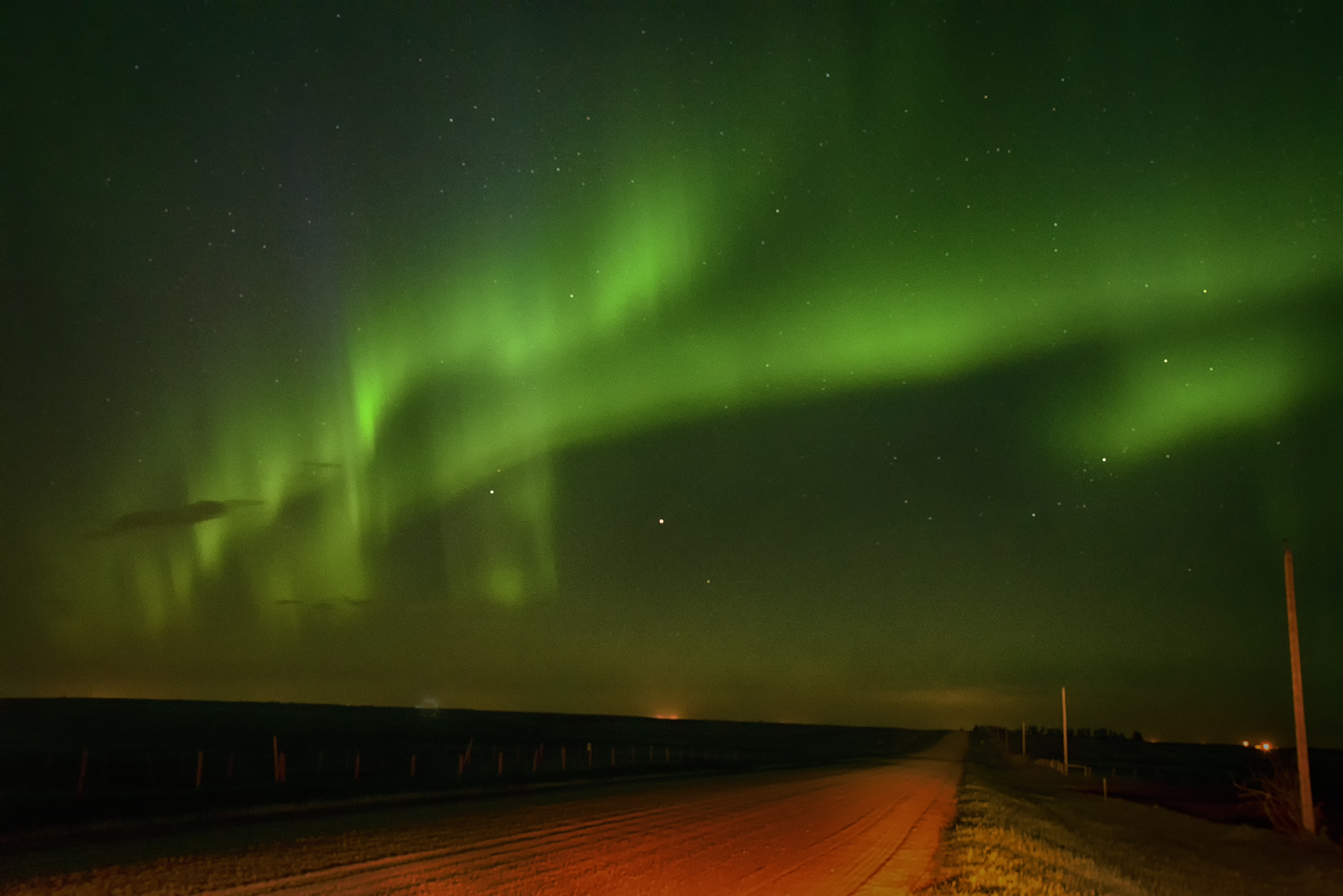 Example of a Photo of the Aurora Borealis Shot Using a DSLR