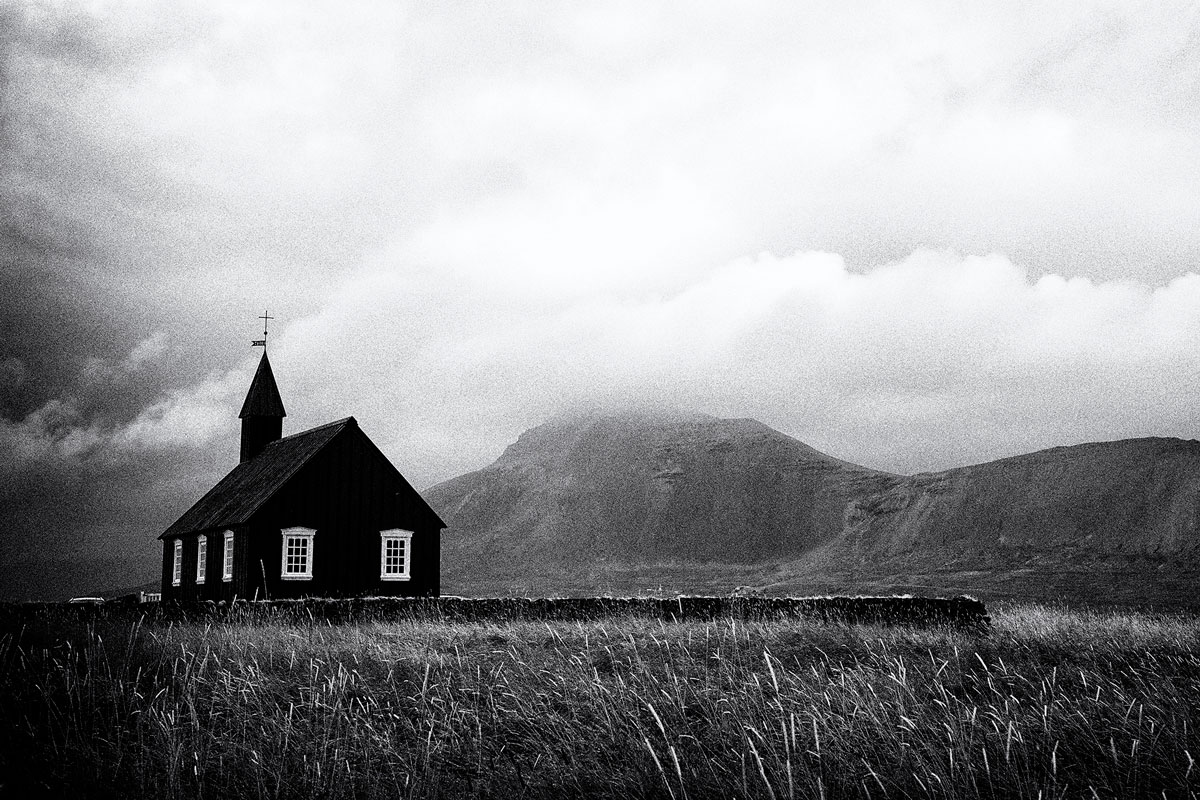 Budir black church at the Snæfellsnes peninsula in Iceland