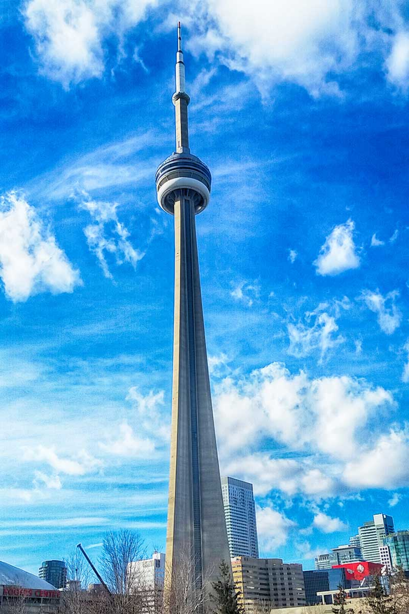 Toronto CN Tower cell phone photography